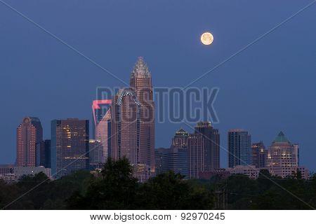 Full Moon Over Charlotte, North Carolina
