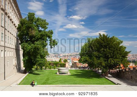 Prague Castle And Paradise  Garden.