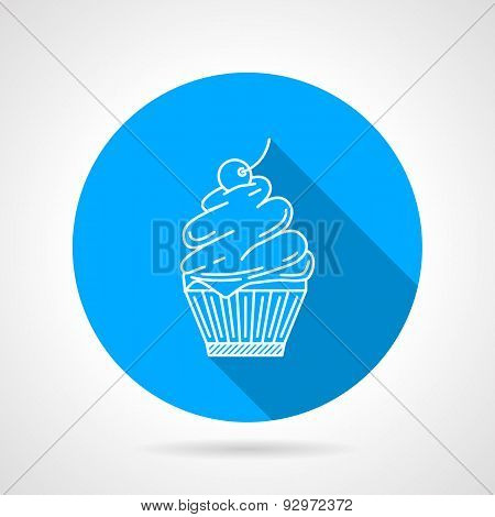 Line vector icon for muffin