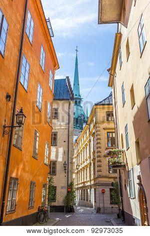 Narrow Streets Of Gamla Stan Stockholm