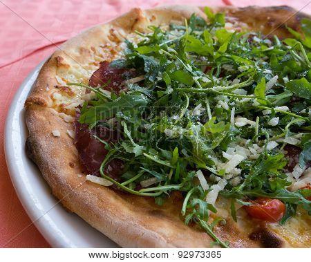 Mediterranean Pizza Left Side