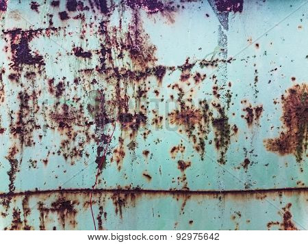 old withered rust texture with paint stains and scratches