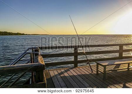 single rod in the evening sun