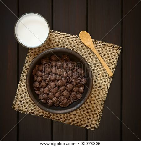 Chocolate Corn Flakes with Milk