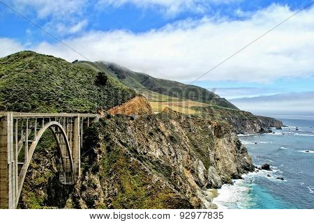 view from bixby bridge