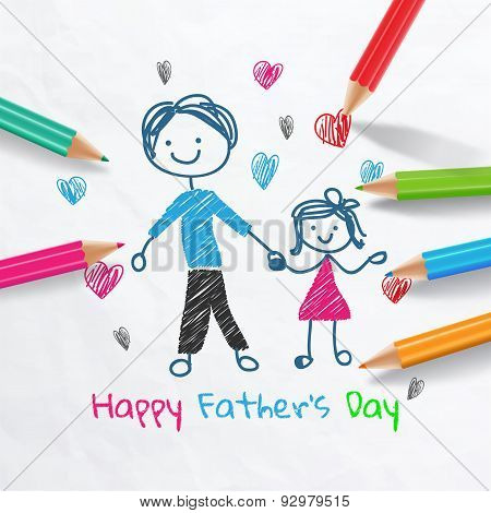 Happy Father's Day Card.vector Illustration
