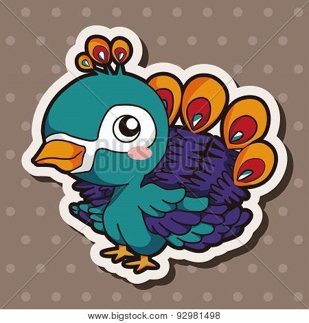 Animal Peacock Cartoon Theme Elements