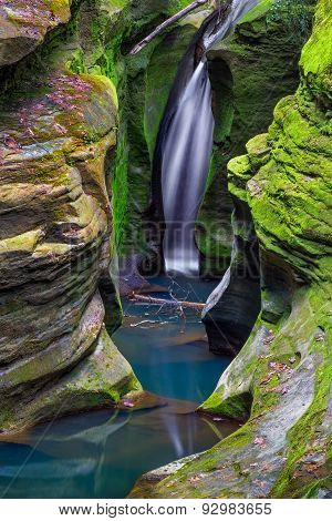 Corkscrew Falls In Ohio