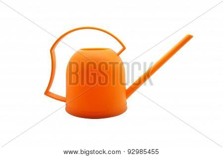 Orange watering plastic can, orange watering plastic pot