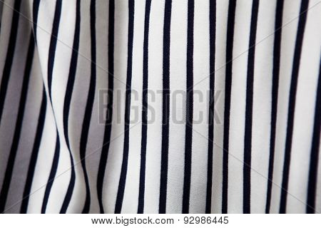 Striped fabric with wripples. white and blue border stripe pattern fabric.