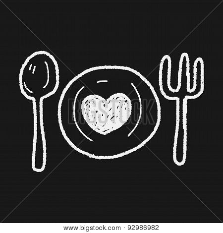 Love Dinner Doodle
