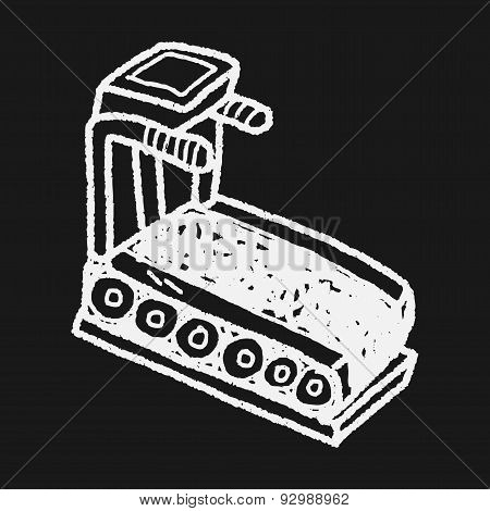 Treadmill Machine Doodle