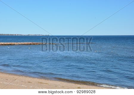 Beach in West Haven, Connecticut