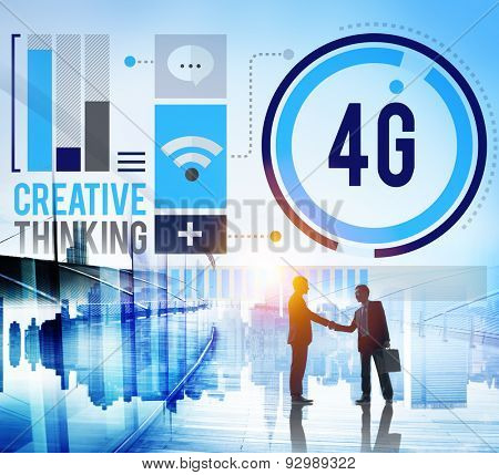 4G Connection Technology Internet Network Concept