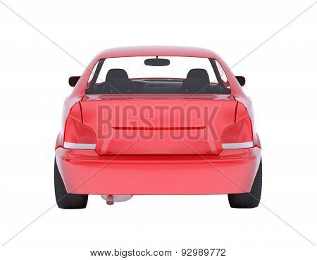 Image of red car on white