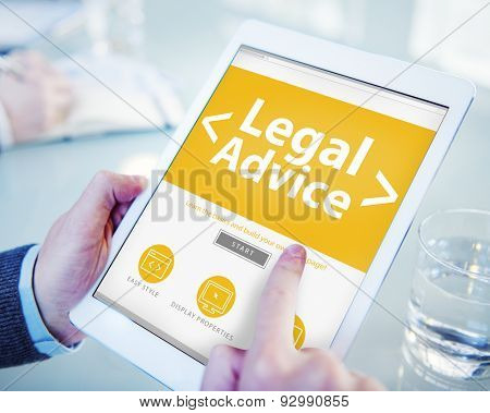 Legal Advice Compliance Consolation Expertise Help Browsing Concept