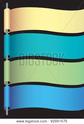 Cool Color Blank Banners With Copy Space