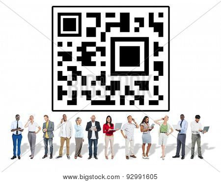 Quick Response Code Digital Information Data Concept