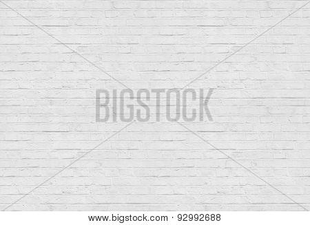 Seamless white brick wall pattern background