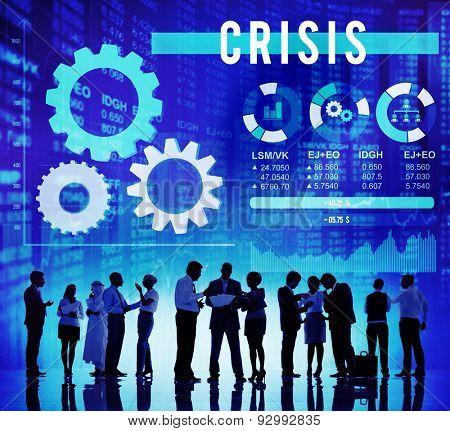 Crisis Risk Business Financial Savings Concept