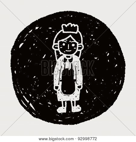 Waitress Doodle