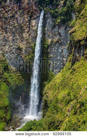 Sipisopiso waterfall in northern Sumatra, Indonesia