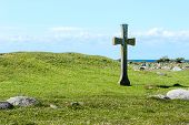 stock photo of chapels  - The remnants of St Johns chapel on Oland Sweden - JPG
