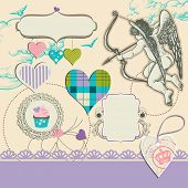 stock photo of cupid  - Fancy wedding design elements - JPG