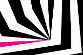 stock photo of uncolored  - black and white abstract regular geometric fabric texture background with pink line - JPG