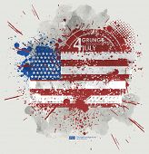 Постер, плакат: July fourth Grunge background vector Grunge print for t shirt Abstract dirt backgrounds texture
