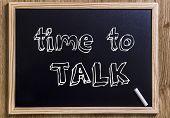 stock photo of motivation talk  - Time to talk  - JPG
