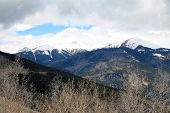 pic of blanket snow  - A snow blanket is still over San Juan mountains in Colorado - JPG