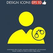picture of lockups  - User icon handcuffs icon - JPG