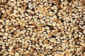 pic of firewood  - Pile of firewood as background - JPG