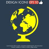picture of geography  - geography school earth globe web icon - JPG