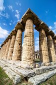 stock photo of ceres  - Temple of Hera the famous Paestum archaeological site  - JPG