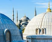 picture of cupola  - Blue Mosque  - JPG