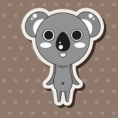 image of koala  - Animal Koala Cartoon Theme Elements - JPG