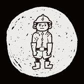 foto of fireman  - Fireman Doodle - JPG