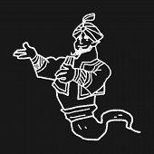 picture of aladdin  - Aladdin Doodle - JPG
