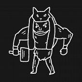 picture of ogre  - Giant Ogre Doodle - JPG