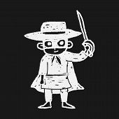 picture of zorro  - Mask Man Doodle - JPG