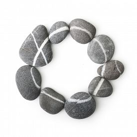 picture of taoism  - Stones isolated on white background - JPG