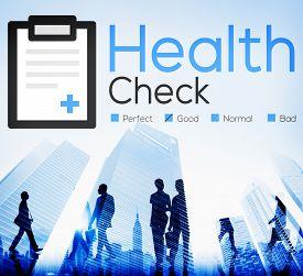 foto of check  - Health Check Insurance Check Up Check List Medical Concept - JPG