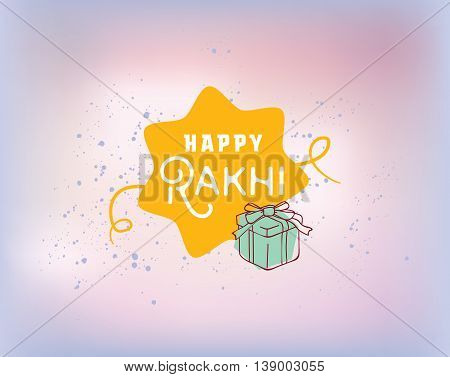 Happy Raksha Bandhan. Indian holiday. Vector background. Typographic emblem, logo or badge. Usable for greeting cards, banners, print, t-shirts, posters and banners. Happy Rakhi