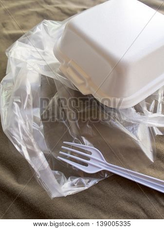 Foam box and Plastic packaging of Street food