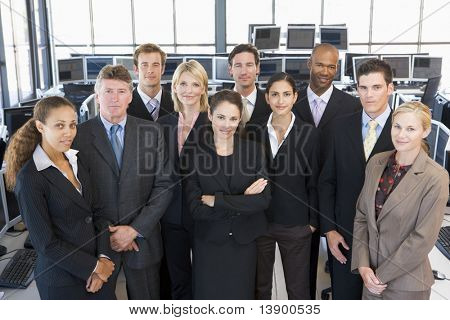 Group Shot Of Stock Traders