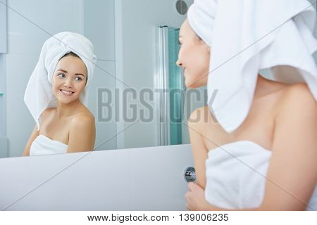 Young Woman in the Bathroom