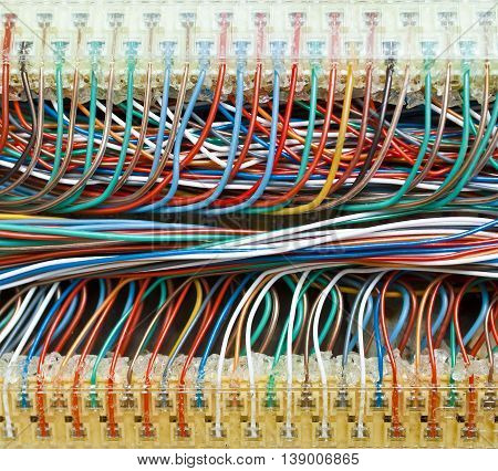 Lots of colored wires closeup. It can be used as a background