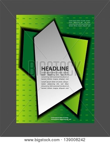 Flyer Design - Business. blue Flyer or Cover Design - Business Vector